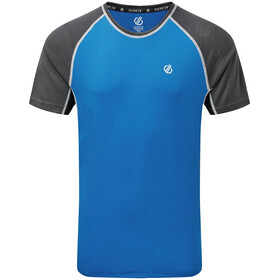 Dare 2b Conflux Camiseta de Lana Hombre, athletic blue/ebony grey marl/black